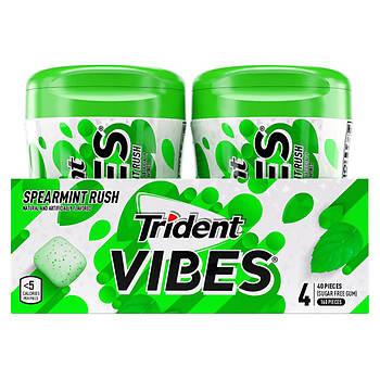 Trident Vibes Spearmint Rush Sugar-Free Chewing Gum, 4 pk.