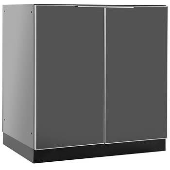 NewAge Products Aluminum Alloy Outdoor Kitchen 2-Door Cabinet - Slate Gray