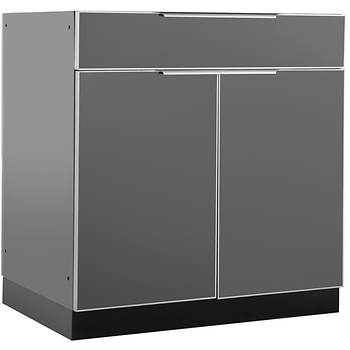 NewAge Products Aluminum Alloy Outdoor Kitchen Bar Cabinet - Slate Gray