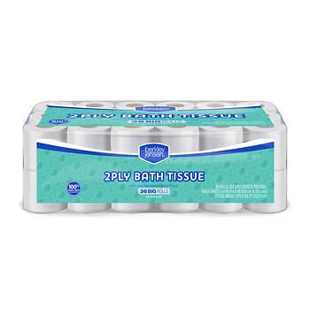 Berkley Jensen Big Roll 2-Ply Bath Tissue, 36 pk./352 Sheets