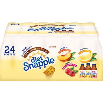Diet Snapple Ice Tea Variety Pack, 24 pk./20 fl. oz.