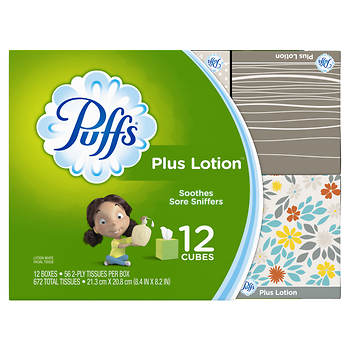 Puffs Plus Lotion Facial Tissues, 672 sheets