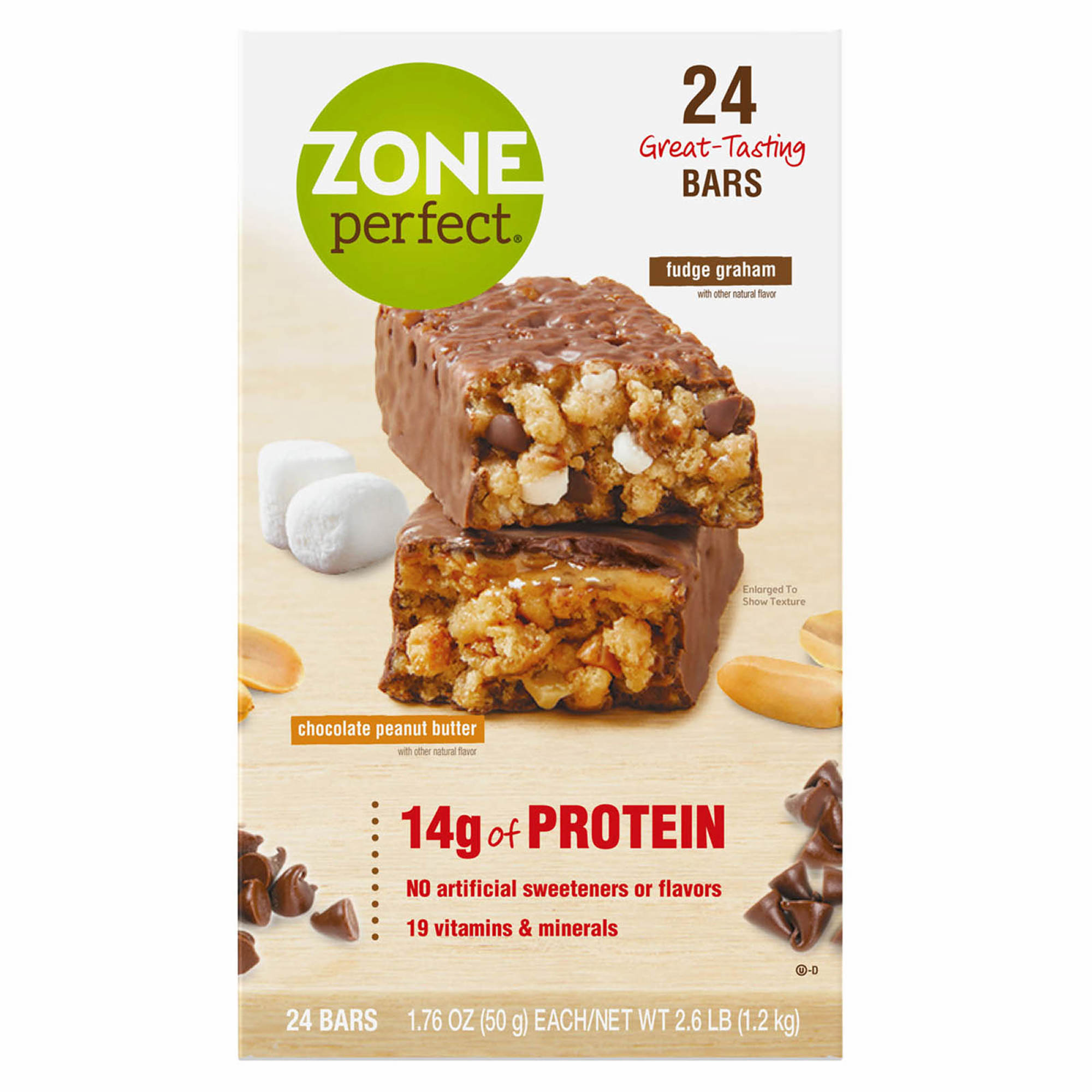 Zoneperfect Nutrition Bar Fudge Graham And Chocolate Peanut Butter
