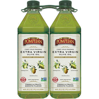 Pompeian Gourmet Selection Extra Virgin Olive Oil, 2 pk./48 oz.