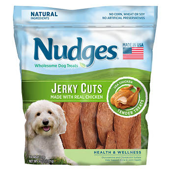 Nudges Health & Wellness Chicken Jerky Dog Treats, 36 oz.