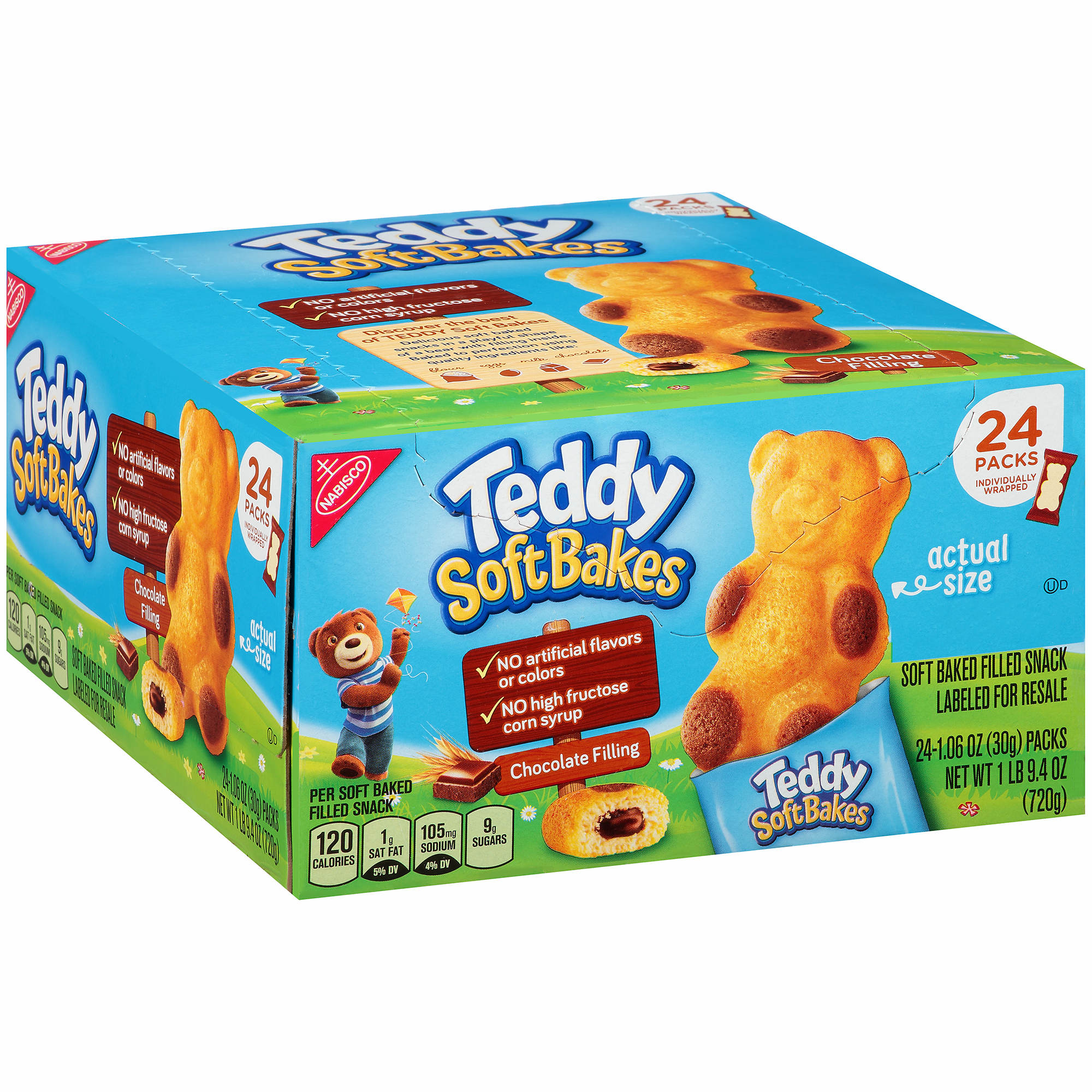 Nabisco Teddy Soft Bakes Chocolate Filling Snacks, 24 ct. - BJs ...