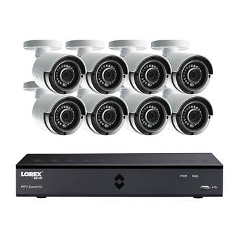 Lorex 8-Channel 4MP DVR Surveillance System with 1TB Hard Drive