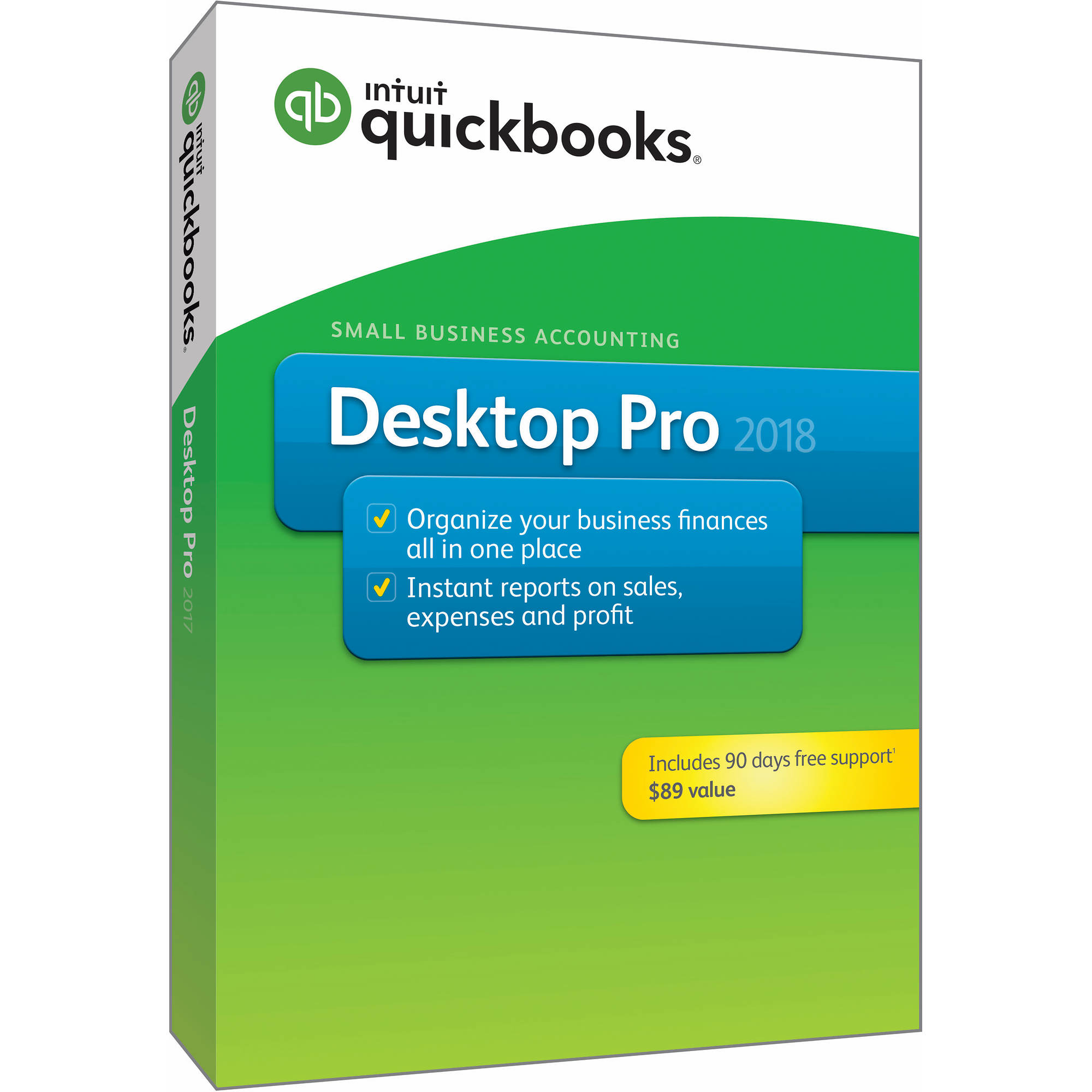 Intuit QuickBooks Pro 2018 with 90-Day Support - BJs