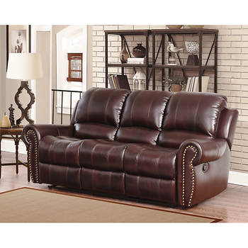 Abbyson Living Berkshire 3 Pc Leather Reclining Furniture
