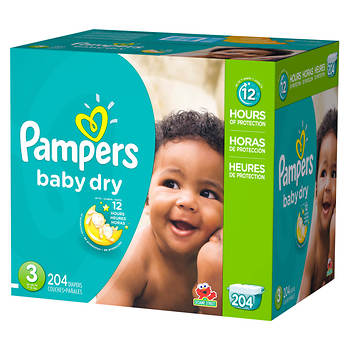 Pampers Baby Dry Size 3 Diapers 204 Ct Bj S Wholesale Club