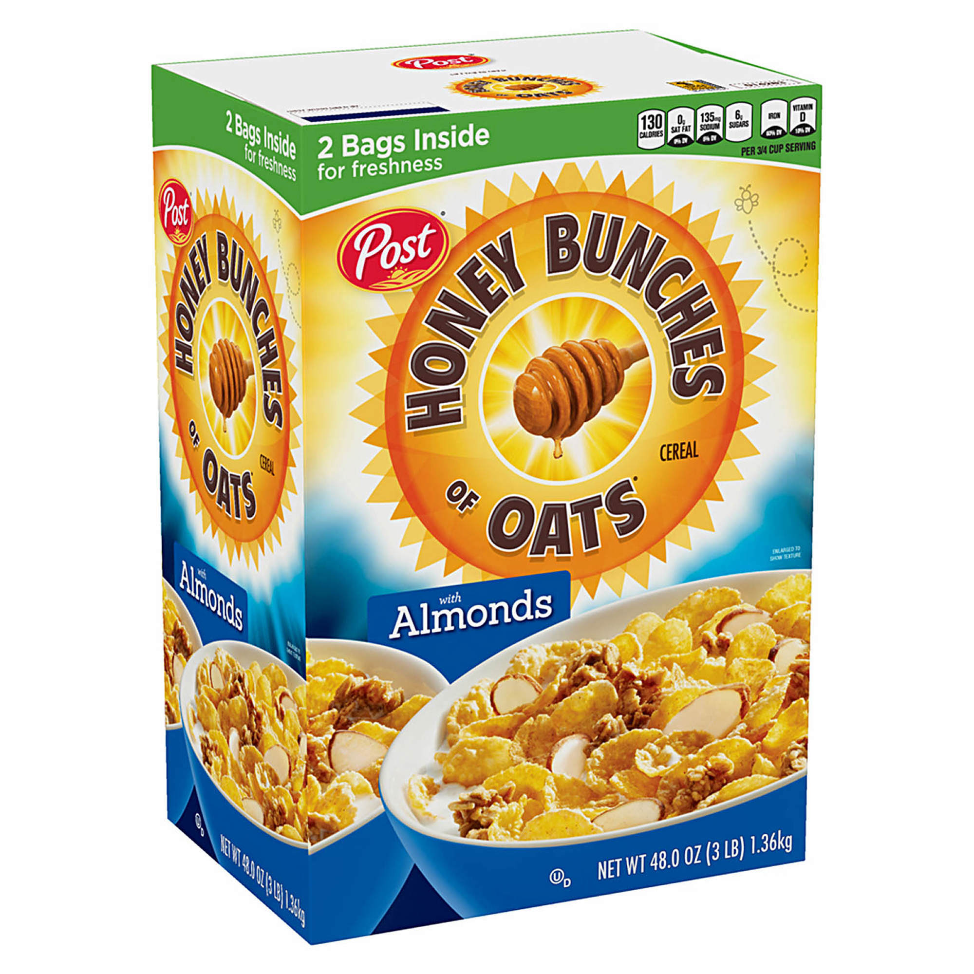 post honey bunches of oats with almonds 48 oz bjs wholesale club