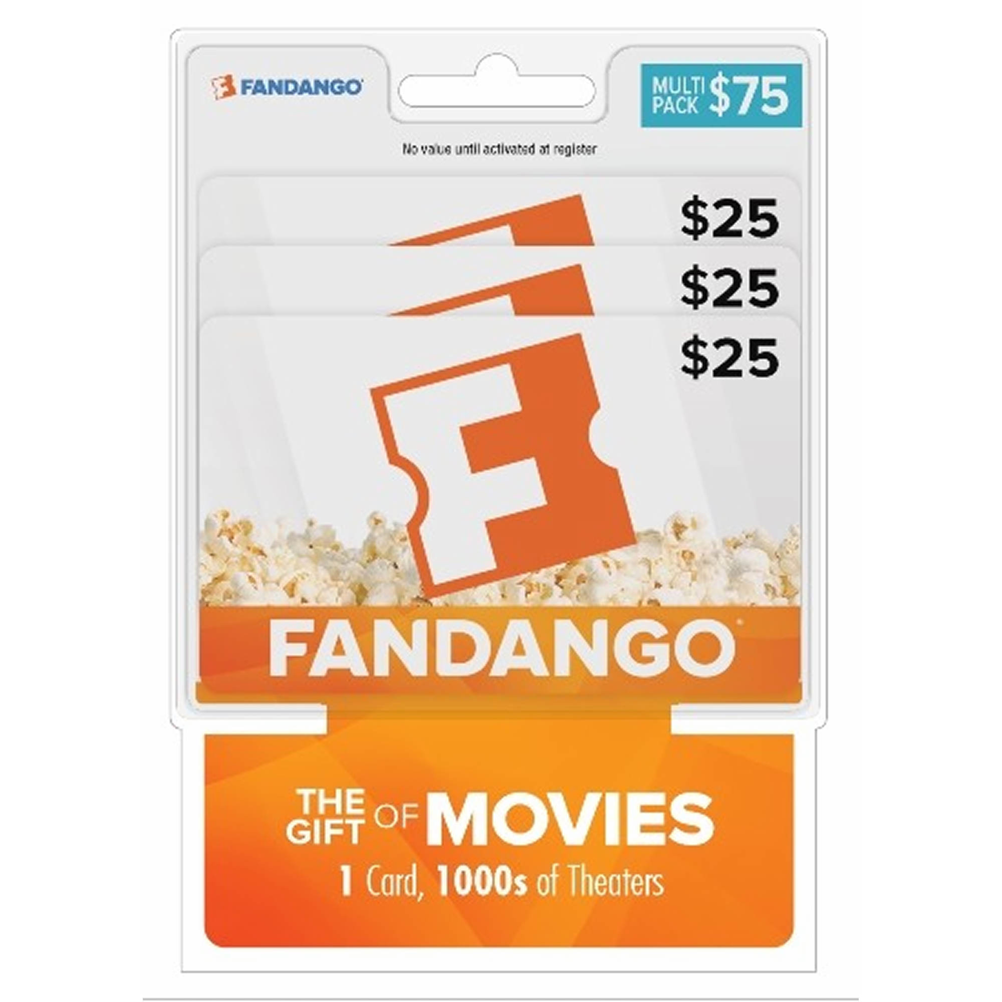 $75 Fandango Movies Gift Cards