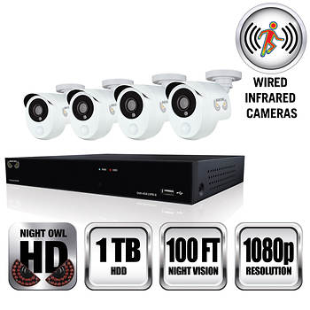 Night Owl 8 Channel 4 Infrared Camera 1080p Security
