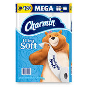 Charmin Ultra Soft Mega Roll 284-Sheet 2-Ply Toilet Paper, 30 pk.