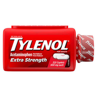Tylenol Tylenol Extra Strength Acetaminophen Caplets, 325 Ct.