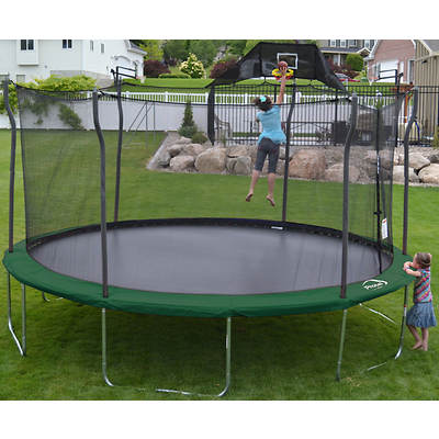 Propel Trampolines 15' Round Trampoline with Enclosure and Accessory B