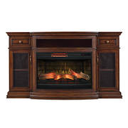 "Chimney Free 70"" TV Stand with Infrared Quartz Electric Fireplace - Co"