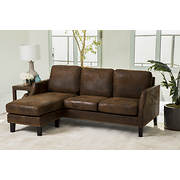 Abbyson Living Bella Reversible Sofa Sectional - Brown