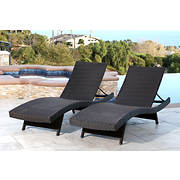Abbyson Living Alesso Outdoor Chaise Lounges, 2 pk. - Espresso