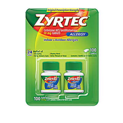 Zyrtec Zyrtec Allergy 10mg Original Prescription Strength Tablets, 100 Ct.