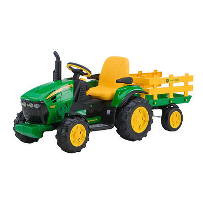 Peg Perego Peg Perego John Deere Ground Force Tractor With Stake-side Trailer