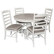 Powell Slater 5-Pc. Round Dining Set - White