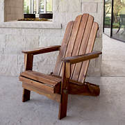 W. Trends Acacia Adirondack Chair - Brown