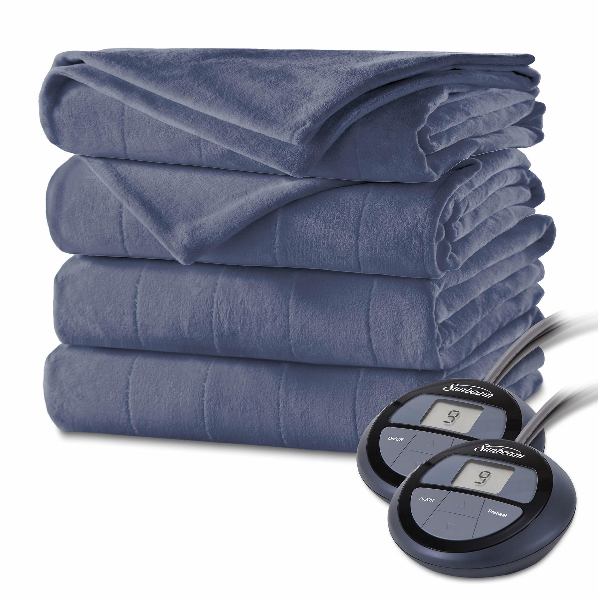 Sunbeam Fullqueen Size Velvet Plush Heated Blanket Assorted Bjs