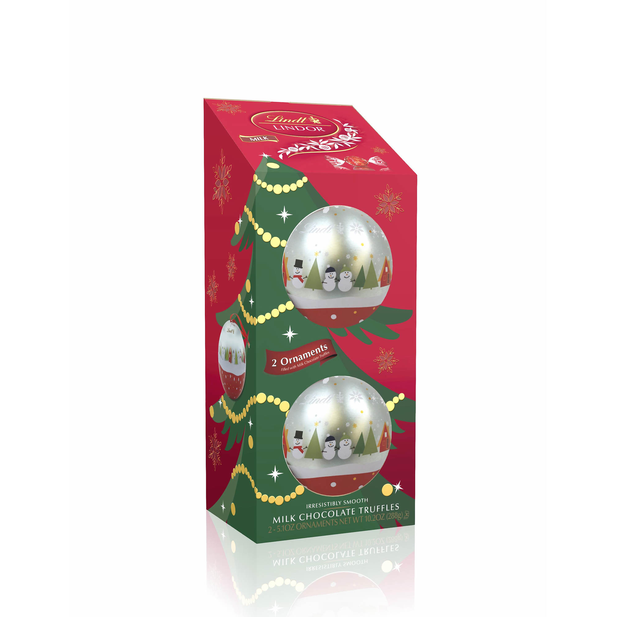 Lindt Lindor Ornaments with Milk Chocolate Truffles, 2 pk./5.1 oz ...
