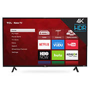 "TCL 43S403 43"" 4K UHD HDR Smart Roku LED TV"