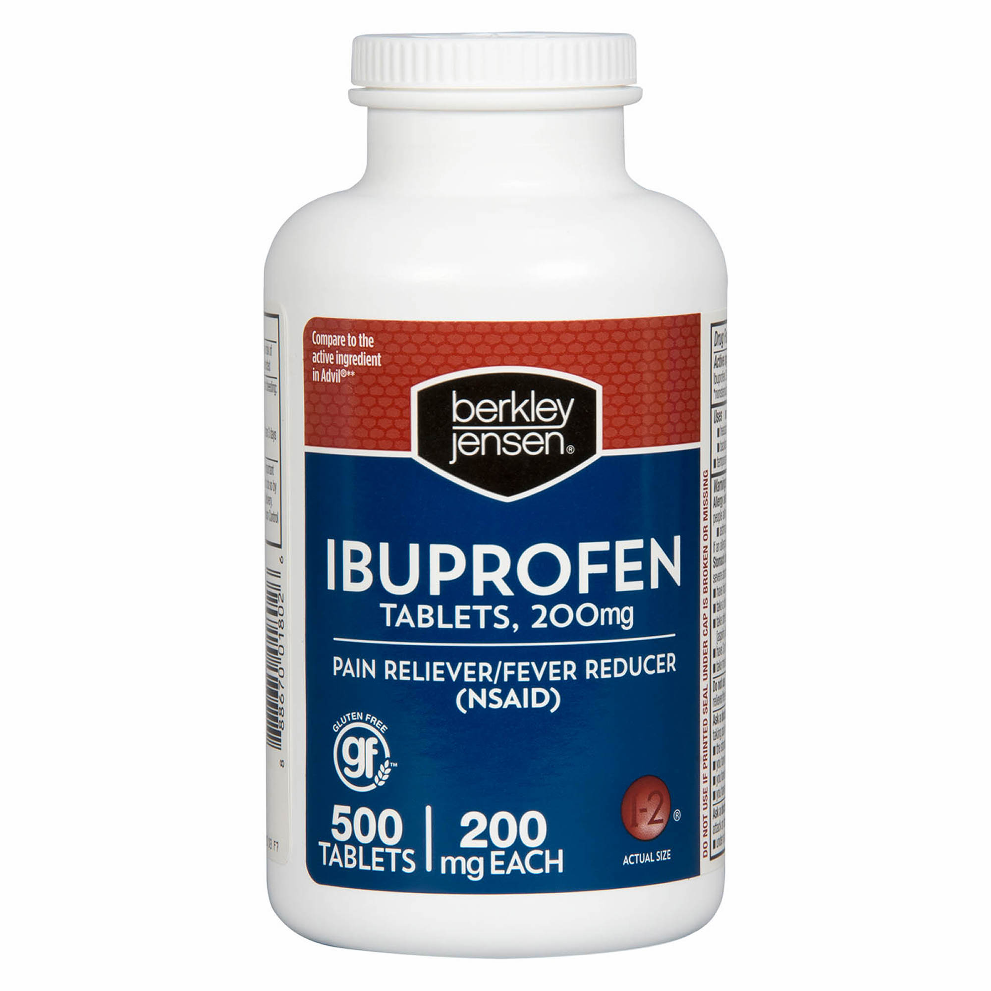 Berkley Jensen 200mg Ibuprofen Tablets 500 Ct Bjs Wholesale Club