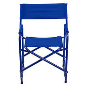 E-Z UP Standard Aluminum/Fabric Director's Chair - Royal Blue