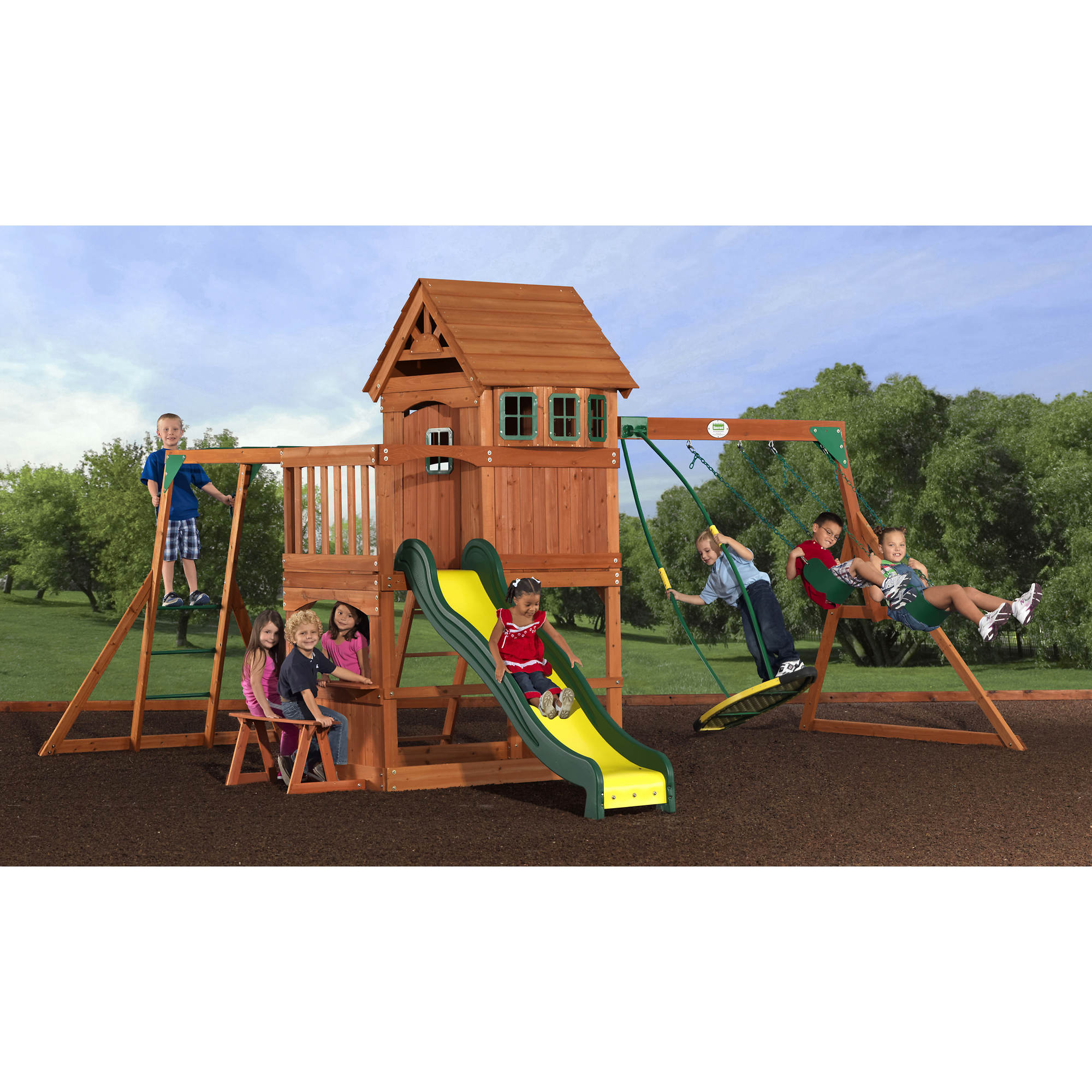 pieces backyard an swing general somerset big wood discovery preparation outdoor set from guide wooden slide and assembly for