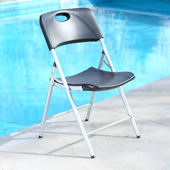 Lifetime Folding Chair Black Bjs Wholesale Club
