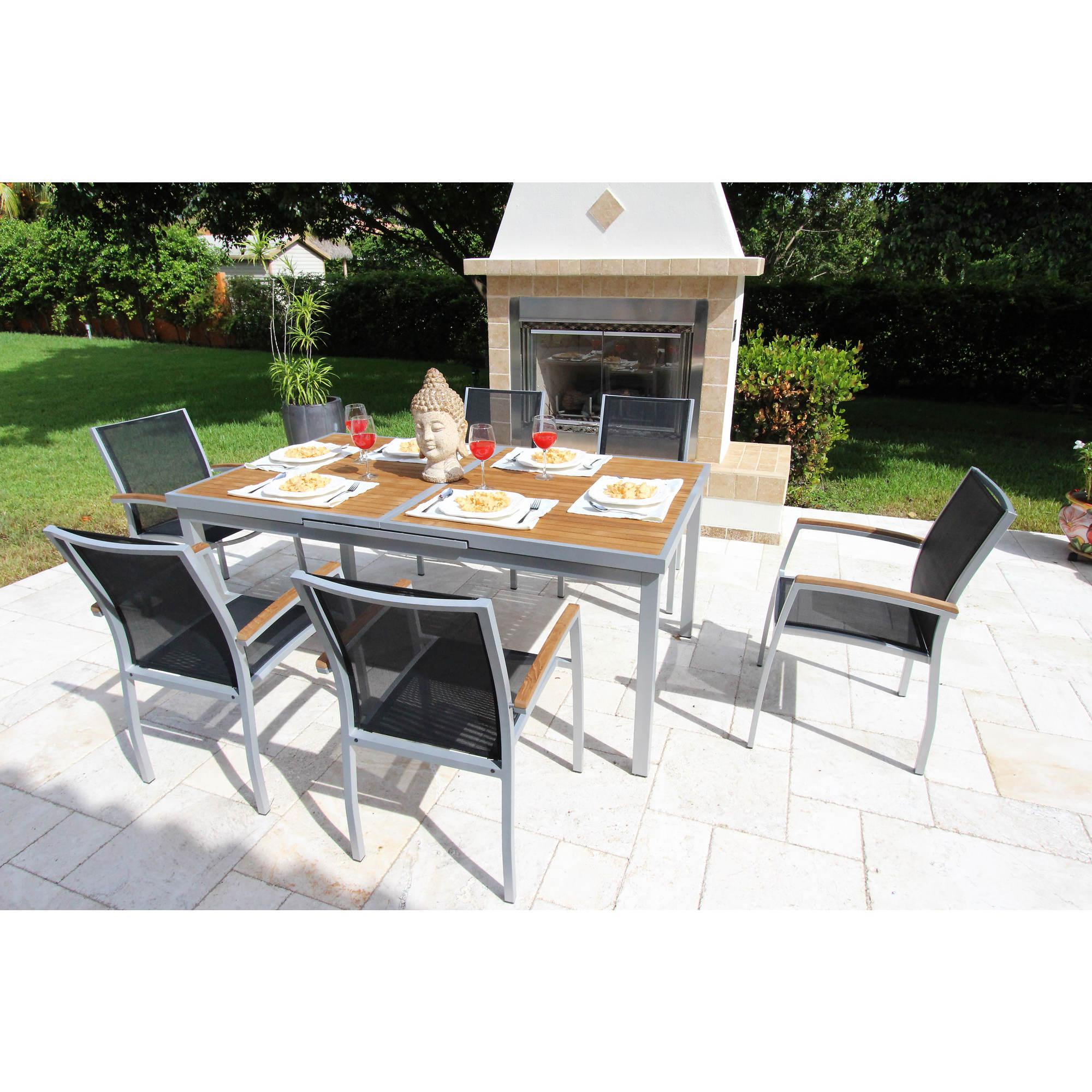Bellini Home And Gardens Galliano Castaway 7 Pc Outdoor Dining Set