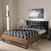 Baxton Studio Mitchell Queen-Size Platform Bed - Black
