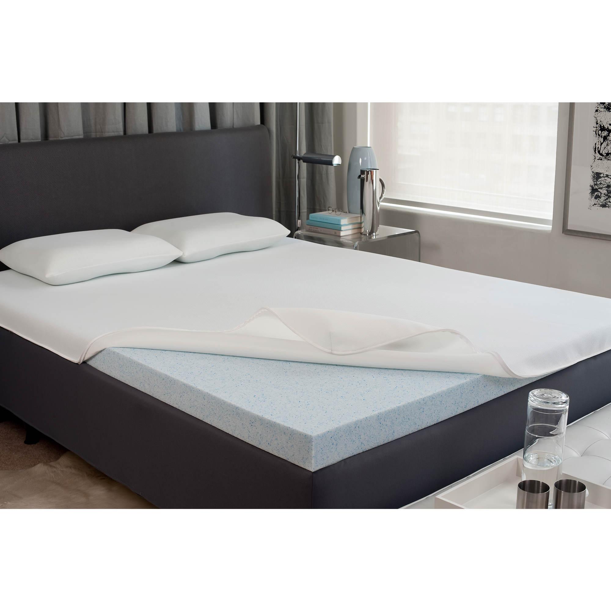 gel memory foam mattress 2 1 2 topper twin bjs wholesale club. Black Bedroom Furniture Sets. Home Design Ideas