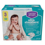 Berkley Jensen Ultra Absorbent Diapers, Size 3, 180 ct.