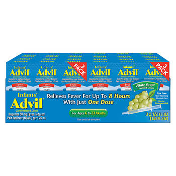 Childrens Advil Grape Flavor Suspension 4 Fl Oz 3 Pk Bjs