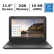 HP Chromebook, Intel Celeron N2840 Processor, 2GB Memory, 16GB eMMC St