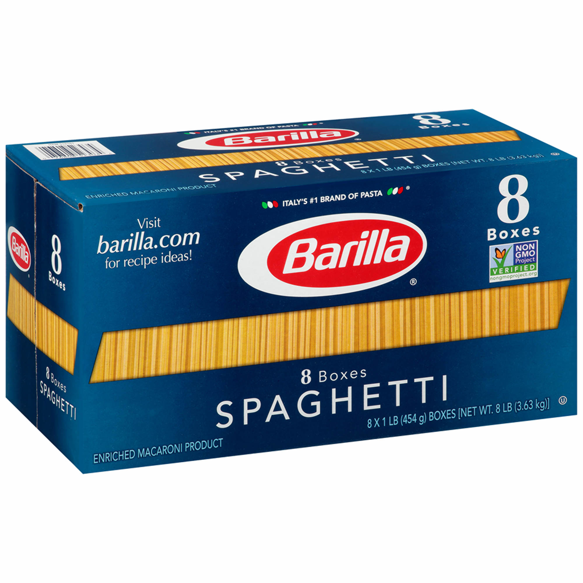 barilla spaghetti pasta 16 oz 8 pk bj s whole club barilla spaghetti pasta 16 oz 8 pk