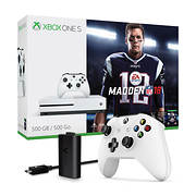 Xbox One S Madden NFL 18 500GB Console Bundle with Play and Charge Kit