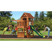 Backyard Discovery Atlantis Swing Set with Upper Fort