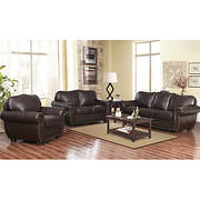 Abbyson Living Barrington 3-Pc. Living Room Set - Dark Brown
