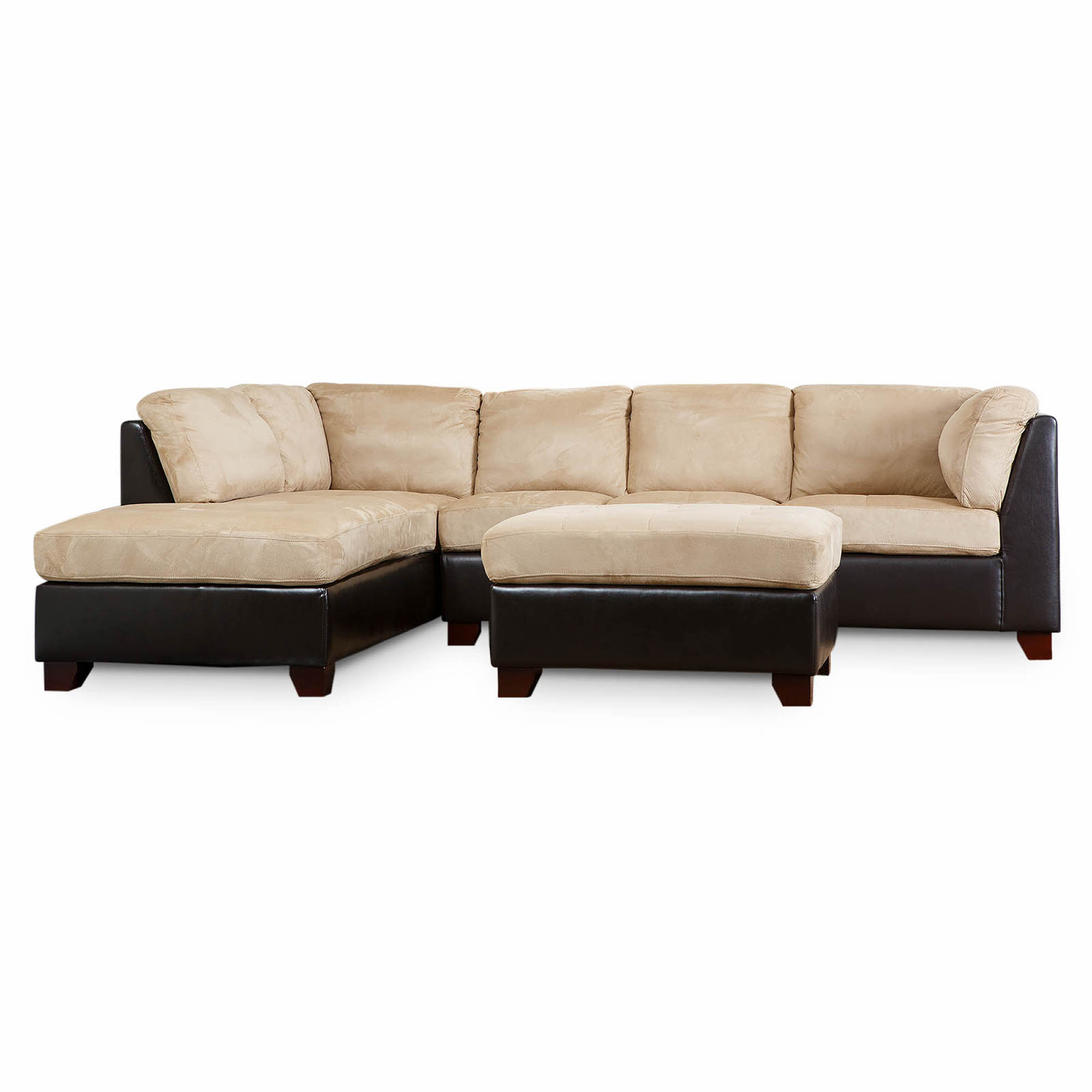 free chaise beige right electric esf sectional facing with w in leather sofa recliner