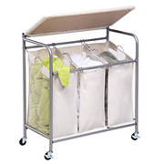 Honey-Can-Do Ironing and Laundry Sorting Combo Center - Natural/Chrome