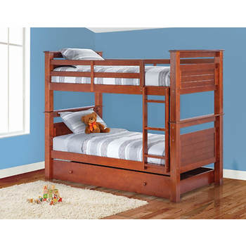 Berkley Jensen Twin Bunk Bed Walnut Bjs Wholesale Club