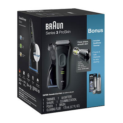 Braun Braun Series 3 Proskin 3070cc Electric Shaver With Clean And Charge St