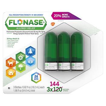 Flonase Allergy Relief Nose Spray 3 Pk062 Fl Oz Bjs