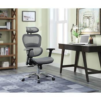 Berkley Jensen Deluxe Mesh Chair Gray Bjs Wholesale Club